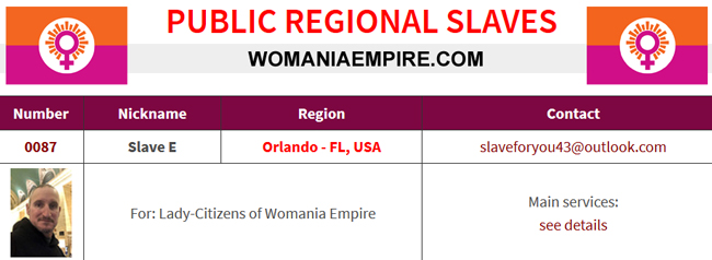 New Public Regional Slave of Womania Empire!