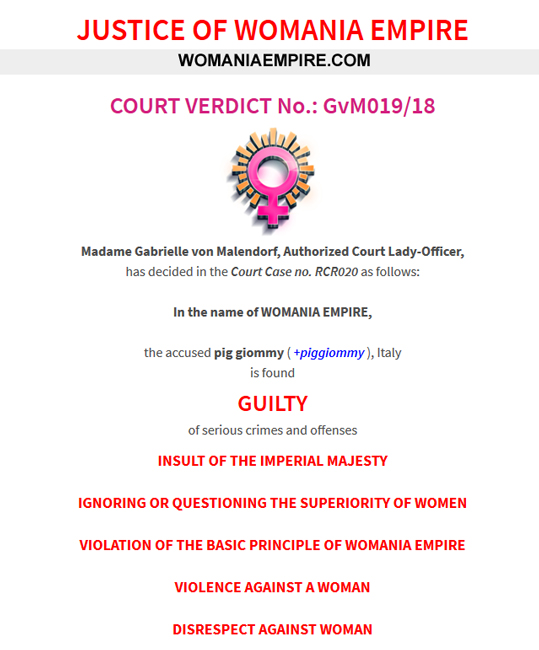 Court Verdict no.GvM019/18