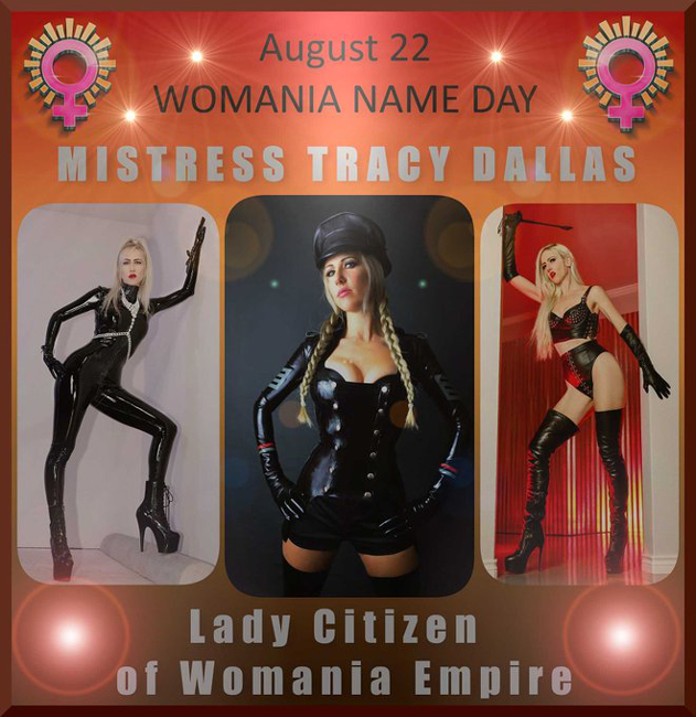 Womania Name Day - Mistress Tracy Dallas