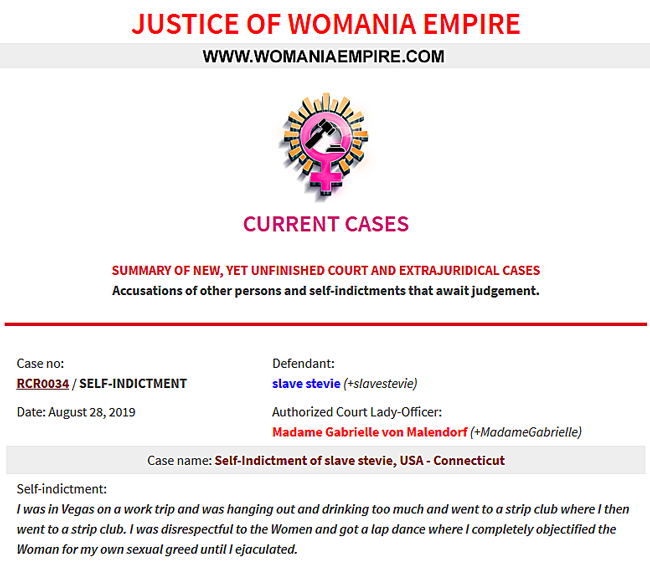 New Womania Court Case no.RCR0034