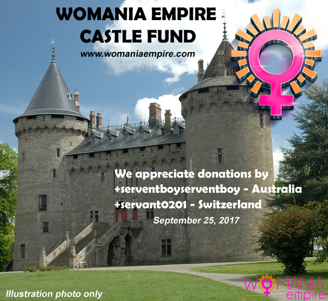 New donations for Womania Empire Castle Fund!