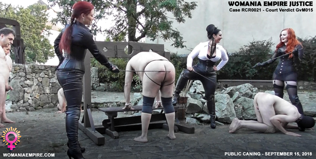 Public caning for Womania Court convicts