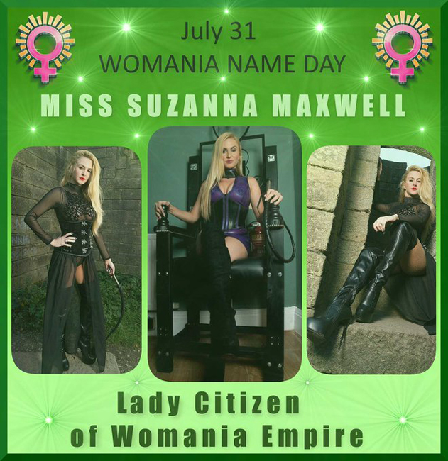 Womania Name Day - Miss Suzanna Maxwell