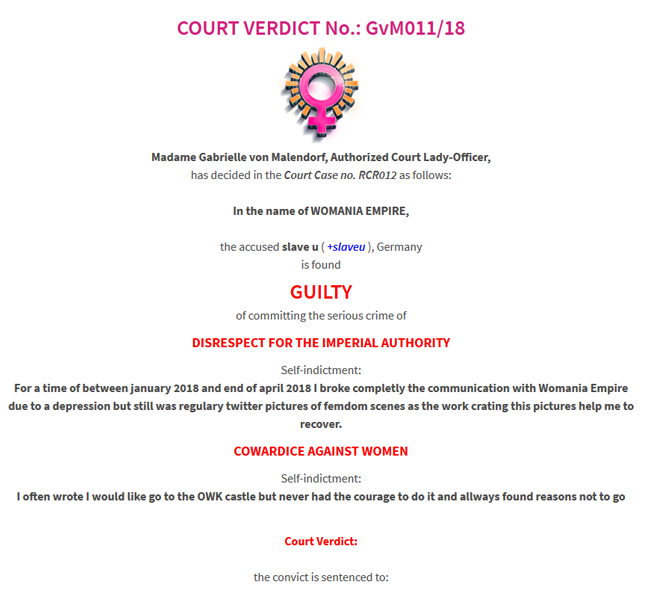 Court Verdict no.GvM011/18
