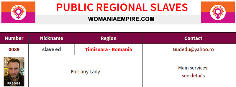 New Public Regional Slaves of Womania Empire!
