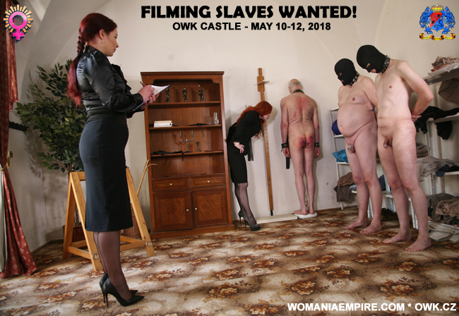 Filming slaves wanted!
