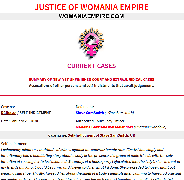 New Womania Court Case no.RCR0038
