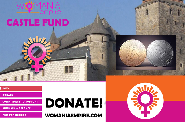 Donate for our Castle with Bitcoin or Ethereum
