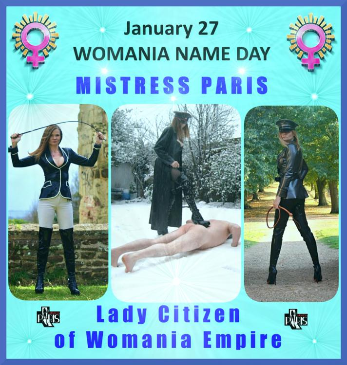 Womania Name Day - MISTRESS PARIS !