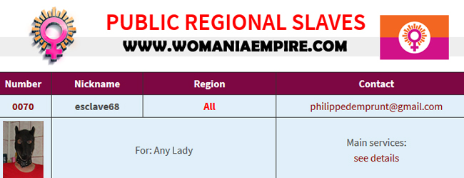 New Public Regional Slave of Womania Empire
