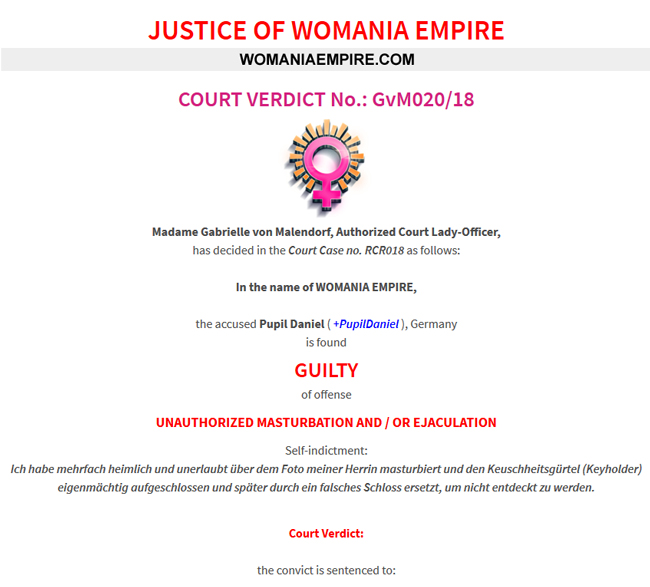 Court Verdict no.GvM020/18