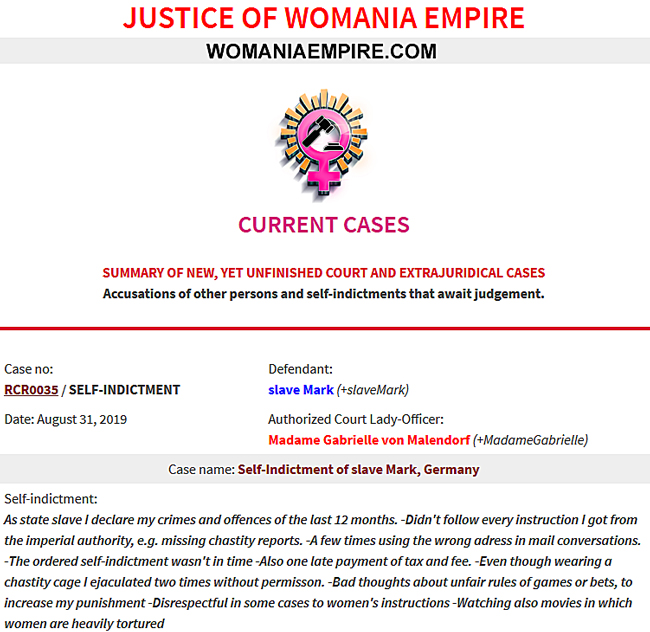 New Womania Court Case no.RCR0035