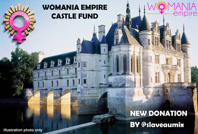 New donation for Womania Empire Castle Fund!