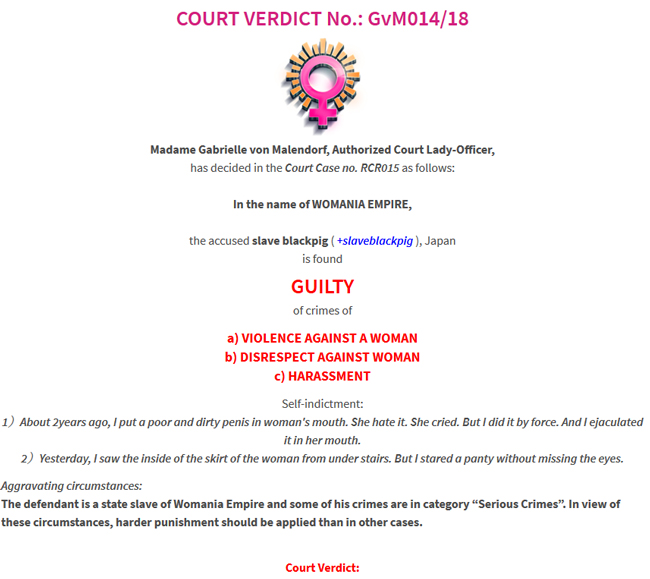 Court Verdict no.GvM014/18